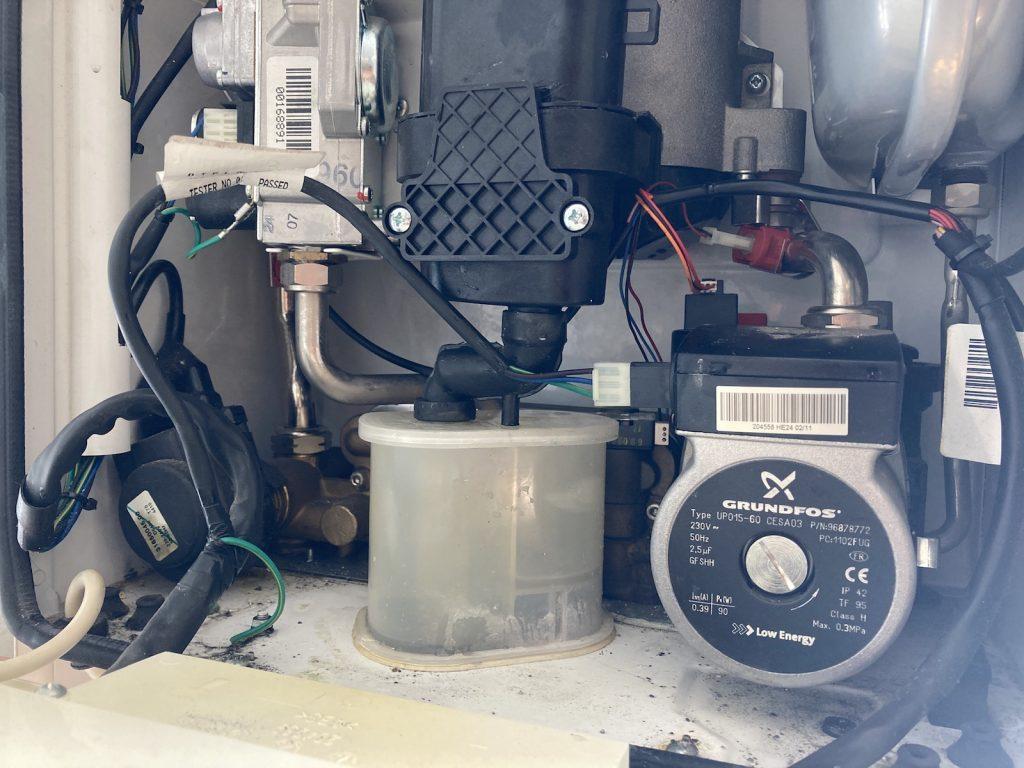 Ideal Logic boiler inside